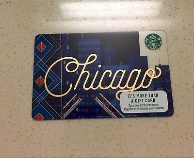 Starbucks Chicago City Gift Card Brand New, Unused, Mint
