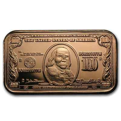 /<U.S SELLER/>1 Pc.REALISTIC AMAZINGLY-COLORE DETAIL GOLD U.S$5.00 BANKNOTE REP.*