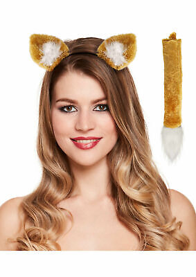 FOX Ears and Tail Set Headband Fancy Dress Costume Accessory ONE SIZE FITS ALL