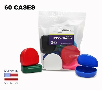 YOU PICK COLOR Element RETAINER CASES 60 PACK Orthodontic Nightguard Braces