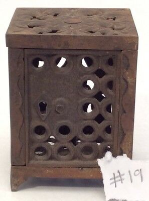 Stunning Antique Ornate Urns 1880s-1890s Cast Iron Coin Toy Key Bank #19 SEE ALL