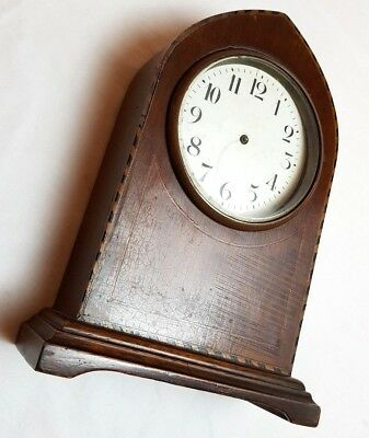 Vintage Wooden Mechanical Clock Mantel Shelf Home Decor