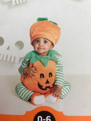 Hyde And Eek Baby Plush Pumpkin Costume Unisex Size 0-6m Halloween