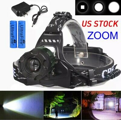 Mining Cave Light Headlight LED 10000 Lumens 400,000+ LUX Headlamp rechargeable