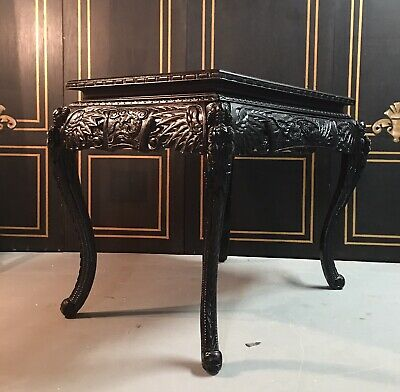 Heavily Carved Chinese Export Centre Table/ Desk