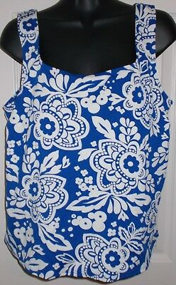 New Nwot Tankini Top Sz 20W Lands End Womens Bathingsuit Blue Top Only Sexy