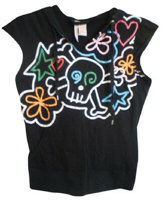 Hot Topic New Pull-over Cap Sleeved Skull Hoodie
