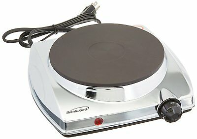 BRAND NEW Brentwood TS-337 1000w Electric Hotplate, Silver