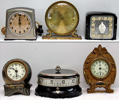 5 Vintage Miscellaneous Clocks and a Timer