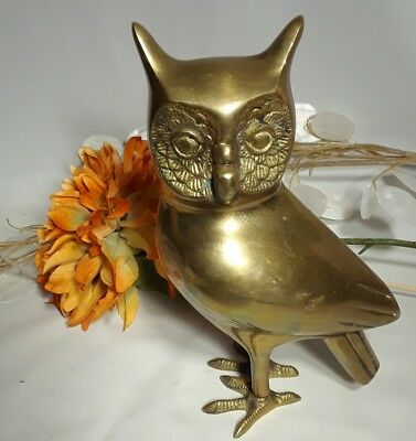 """Solid Brass Owl 9.5""""H"""