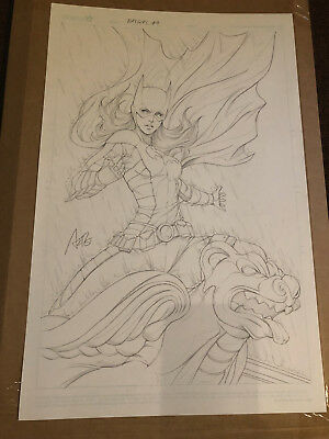 STANLEY ARTGERM LAU ORIGINAL COVER ART BATGIRL #9 Pencils OA