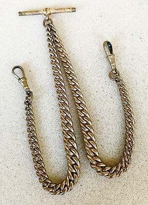 Gold plated double Albert Watch chain