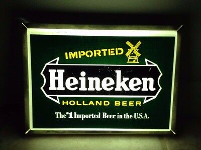 Heineken  Holland Beer The #1 Imported Beer In The U.s.a. Light Sign Works Great