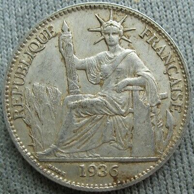 1936  French Indo China 50 Cents