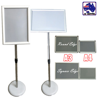 A3 A4 Shop Display Poster Snap Board Sign Holder Stand Pedestal Sign WRA0002