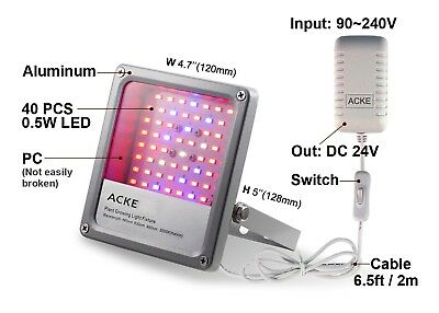 Led Grow Light Hydro Full Spectrum Hydroponic Indoor Veg Bloom Plant with Switch