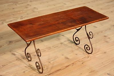 Bench small table wood iron forged furniture italian antique style chair table