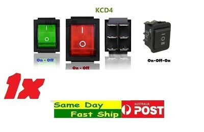 One KCD4 Large Rectangle Rocker DPDT Switch Car Dash 6-Pin AU local fast ship
