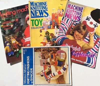 Machine Knitting Book/Magazines LOT X 4 Toys Easter Xmas Dolls Crafts Patterns