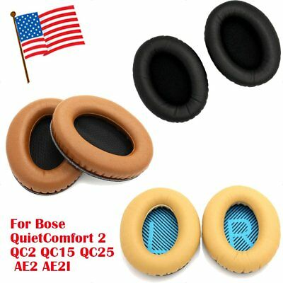 2Pcs Replacement Ear Pads For Bose QuietComfort QC2 QC15 QC25 AE2 AE2W Headphone