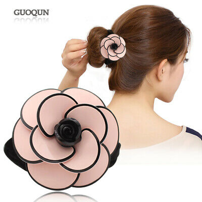 Camellia Flower Ponytail Holder - Elastic Hair Ties Rope for Women - Accessories