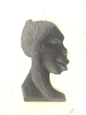 Carved Wooden African Female Face