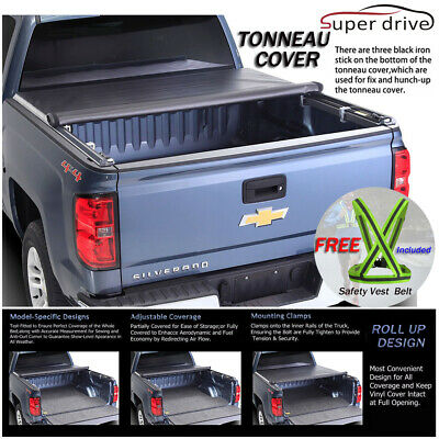 Fits 14-17 Toyota Tundra 8ft 96in Bed Lock Soft Tri-Fold Tonneau Cover