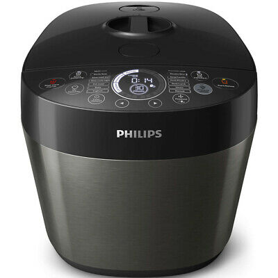 Philips HD2145 6L Electric Digital Automatic Non-stick Fast/Slow Pressure Cooker