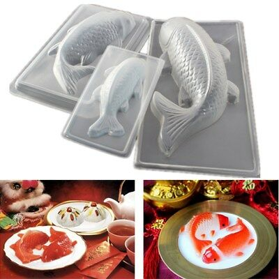 DIY 3D Koi Fish Shape Plastic Cake Mold Chocolate Pudding Jelly Sugarcraft Mould