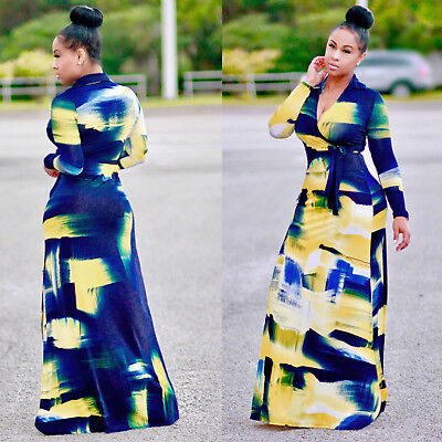 WOMENS PLUS SIZE Dashiki Traditional Graffiti African Ball Gown Maxi  Dresses Lot