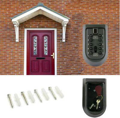 Outdoor 10 Digit Combination Hide Key Safe Storage Box Wall Home Security Lock W