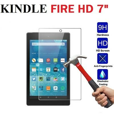 """Genuine Tempered Glass Screen Protector For Amazon Kindle Fire HD 7"""" 2017 / 2018"""