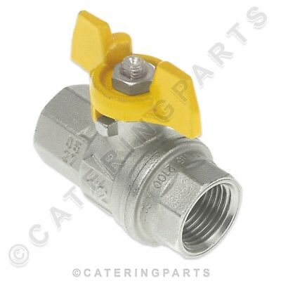 """1/2"""" Bsp Equal Female Butterfly Type Isolator On Off Valve For Nat Gas Air Water"""