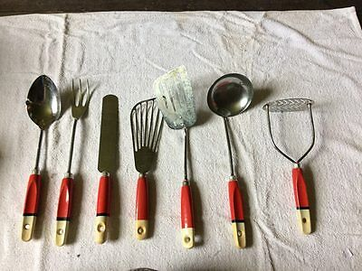 Full original 1950s/60s Set of Prestige kitchen utensils in original box vintage