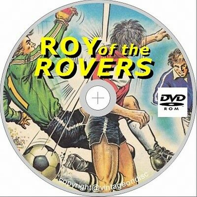 Roy of the Rovers Comics 250 + Assorted Issues on Dvd Rom Golden/Silver Age