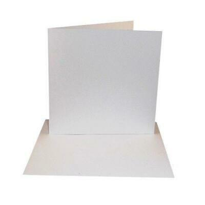 8 x 8 White Greeting Card Blanks & Envelopes x 25 Per Pack - UK Card Crafts