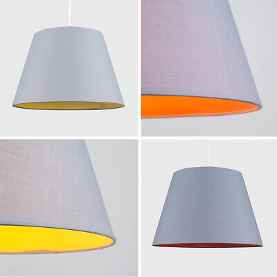 Modern Large LED Tapered Cotton Ceiling Pendant Light Shades Lampshades Lighting
