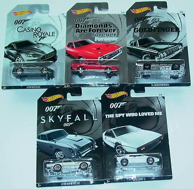 Hot Wheels Konvolut –  007 James Bond – Super!!! – alle 5 Komplett!!!