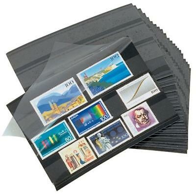 100 Lighthouse 157 x 114 mm Stamp approval cards 3 strip clear film cover