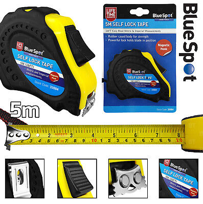 5 Metre Self Locking Tape Measure With Magnetic Tip 16ft Heavy Duty Tape Measure