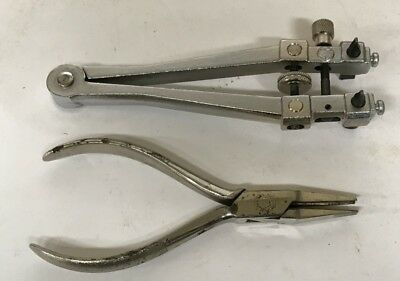 Vintage Tools From Watchmakers Estate, Heavy Duty Watch Back Remover & Pliers !!