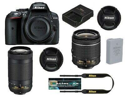 Sale Nikon D5300 Dslr Camera Dual Lens Kit - 18-55mm AF-P + 70-300mm AF-P Lenses