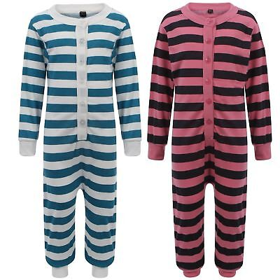 KIDS CHILDREN'S ONESIE BUTTONED  STRIPE PJ'S ALL IN ONE not gerber