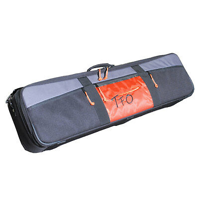 TFO Fly Rod/Reel Travel Case Fishing Storage Durable Reinforced Straps