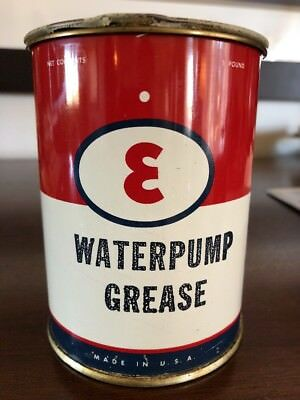 FULL NOS 1940's VINTAGE ESSO Metal GAS OIL Grease Can SIGN 1 Lb.