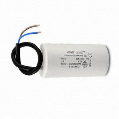ELECTRIC MOTOR RUN CAPACITOR  2MFD to 70MFD 400/450v WITH FLYING LEAD UF