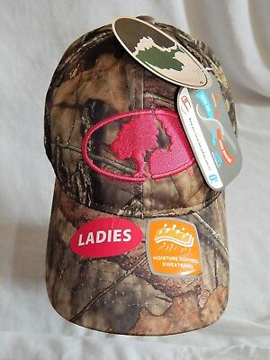 6dbe2686bc3 NEW Mossy Oak Slouch Hat Cap Camo Adjustable Strap Camouflage Pink Women s  OSFM