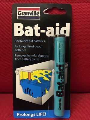 2x BAT-AID GRANVILLE BATTERY REVIVER TABLETS BATAID TABLETS 12 PACK BATTERY