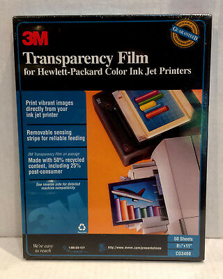 3M Transparency Film CG3460 50 Sheets Factory Sealed Quick Ship