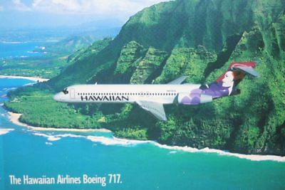 AK Airliner Postcard HAWAIIAN B.717 airline issue